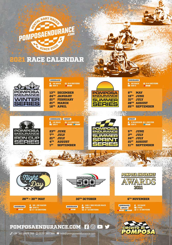 Locandina Pomposa Endurance 2021